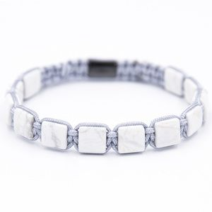 Silver Howlite Marcame Bracelet